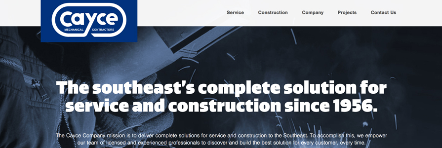 Cayce Company Responsive Website
