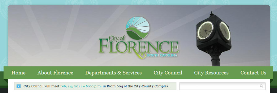 City of Florence Web Site Design