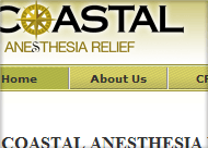 Coastal Anesthesia Relief Web Site Design