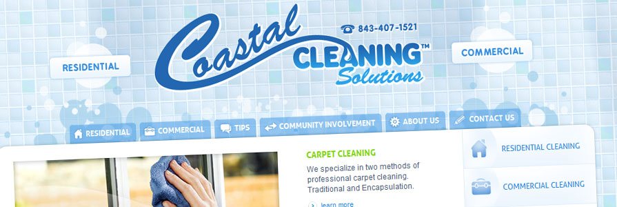 Coastal Cleaning Web Site Design