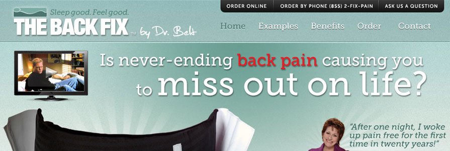 The Back Fix by Dr. Belt Web Site Design and eCommerce