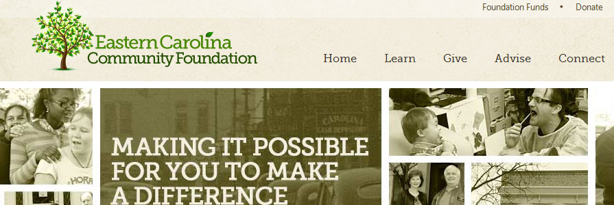 Eastern Carolina Community Foundation Site Design