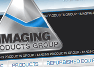 Imaging Products Group Web Site Design