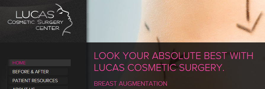 Lucas Cosmetic Surgery of Florence, SC Web Site Design and Development