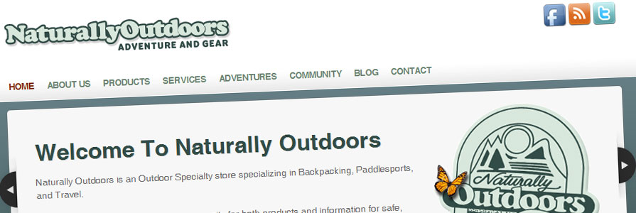 Naturally Outdoors Web Site Design