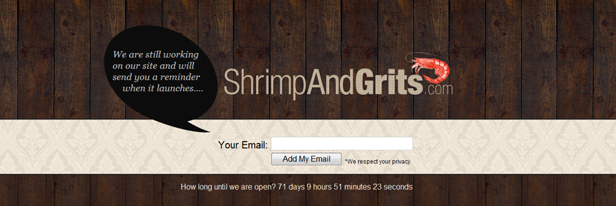 Shrimp and Grits Web Site Design