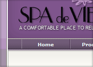 Spa De Vie Web Site Design