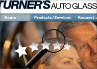 Turners Auto Glass Web Site Design