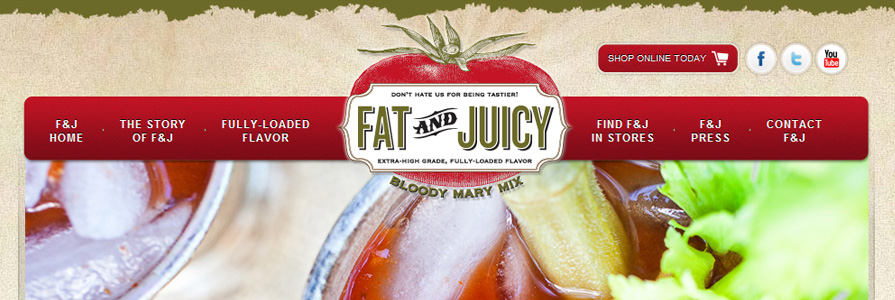 Fat and Juicy Bloody Mary Mix Website Redesign