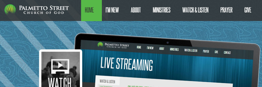 Palmetto Street Church of God Website Design